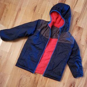 North Face Reversible Hoodie Puffer Coat